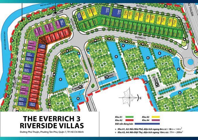 Cần chuyển nhượng gấp lô A2 khu dân cư EVERRICH 3 tiếp giáp phú mỹ hưng