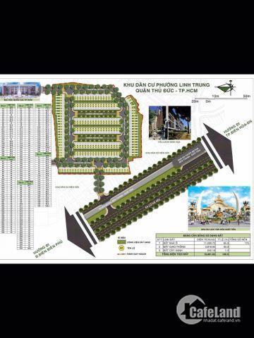 Chính thức mở bán dự án khu dân cư Làng Đại Học Thủ Đức - Đối diện KDL Suối Tiên, giá 27triệu/m2