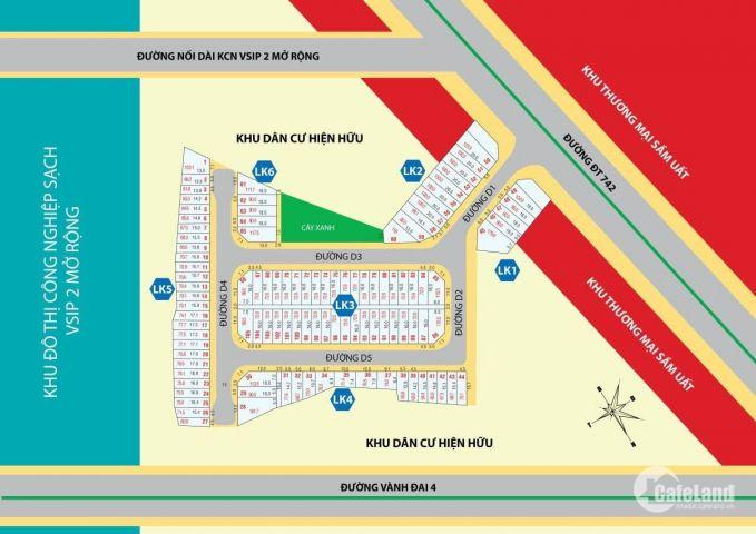 Đất nền Tân Uyên giá rẻ, mở bán siêu dự án Happy Town 1 thị xã Tân Uyên Bình Dương