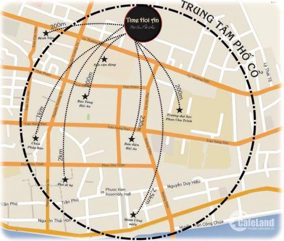 ĐẤT NỀN. trung tâm phố cổ HỘI AN .hạ tầng hoàn thiện