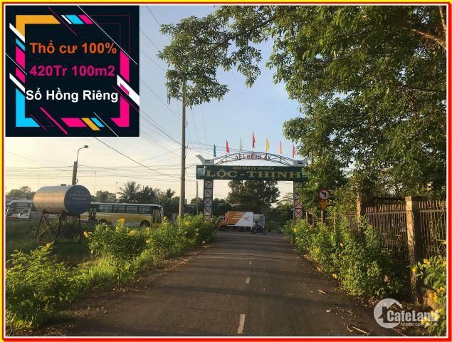 Đất 100m2 Thổ cư SHR 420Tr Hưng Lộc - Thống Nhất