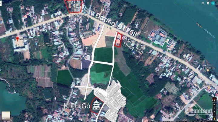 cần tiền bán vài lô đất thiện tân gần chùa từ đức trảng dài giá rẻ chỉ 285tr/ lô