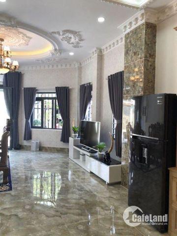 Bán nhà đường Huỳnh Tấn Phát, Thị trấn Nhà Bè. Tp.HCM. DT 5.3m x 12m. 2 lầu, 4PN giá 4.5 tỷ