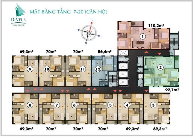 Căn hộ 3 PN Trung tâm Phú Mỹ Hưng chỉ 2.6 tỷ bao gồm VAT sắp nhận nhà ở. Liên hệ: 0933749201 Ms. Hân