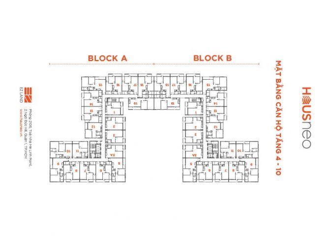 Bán gấp căn góc 2 PN dự án Hausneo Quận 9