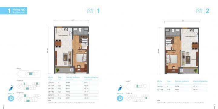 Chính chủ bán căn hộ Safira Khang Điền, D2.07.08, 49m2, hoàn thiện, chỉ 1,52 tỷ có VAT