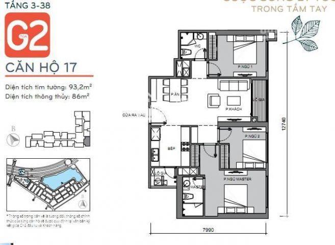 Chủ nhà nhờ tôi bán căn hộ số 17 Tòa G2 dự án Vinhomes Green Bay Mễ Trì,
