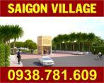 Bán Nhiều Nền Đất Sài Gòn Village, DT: 80m2, 90m2, 120m2, sổ hồng. Giá từ: 1.1 tỷ. LH: 0938781609