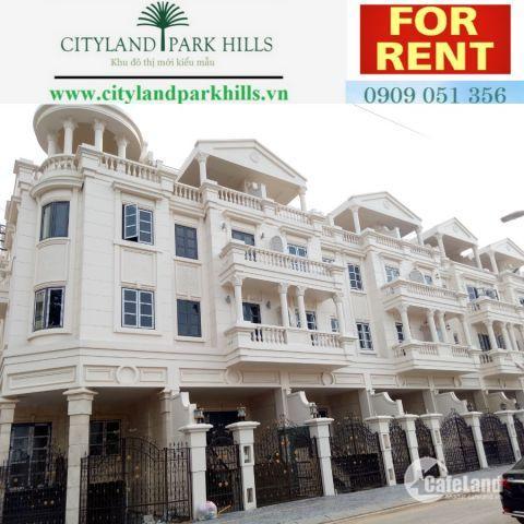 Cho thuê gấp 2 căn nhà phố Cityland Mặt Tiền Phan Văn Trị Gò Vấp