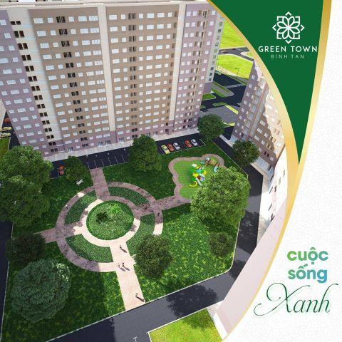 Mở Bán dãy đẹp nhất B1 căn hộ cao cấp GREEN TOWN BÌNH TÂN, ĐƯỜNG SỐ 1 KCN VĨNH LỘC, Chỉ 1.2 tỷ/ căn