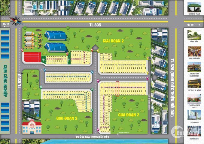 Bán đất KDC Long Hoà Garden, Long An, DT: 88m2, giá 13.1 triệu/m2, Lh: 0918336782