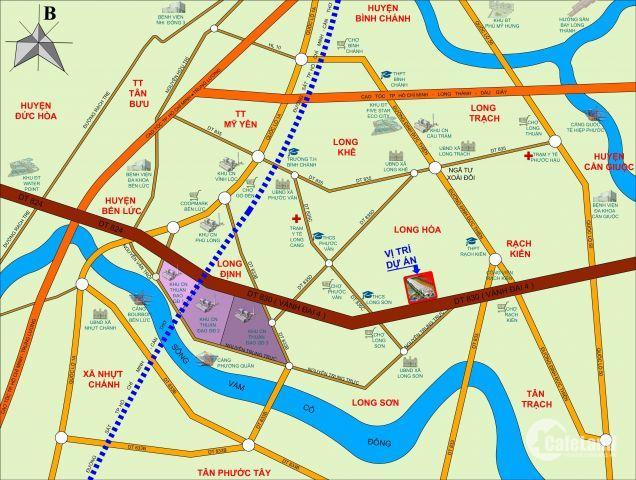 Tìm chủ nhân F1 cho 27 nền đất đã có sổ hồng riêng từng nền, chỉ 10tr/m2, mặt tiền Vành Đai 4, Cần Đước, Long An. LH: 0903 70 39 52 (Zalo, viber)