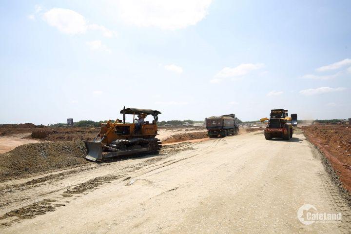 bán gấp lô đất đối diện KCN, hạ tầng đầy đủ (điện âm, nước máy, đường 16m), tiện kinh doanh trọ, buôn bán