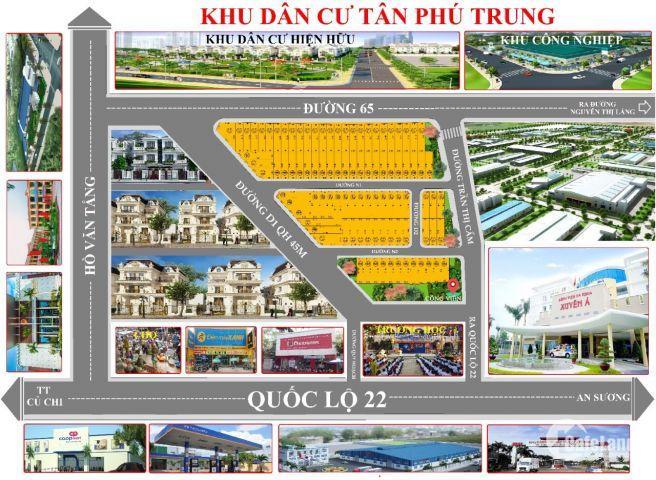 Đất nền dự án KDC Tân Phú Trung, Củ Chi, Tp.HCM