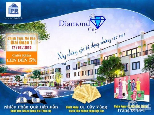 Bán suất nội bộ dự án Diamond City ngã tư Tân Quy - huyện Củ Chi chỉ 620tr/nền,