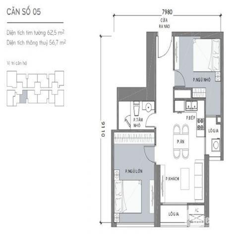 Căn Hộ Vinhomes Central Park 62.5m² 2PN Landmark 2