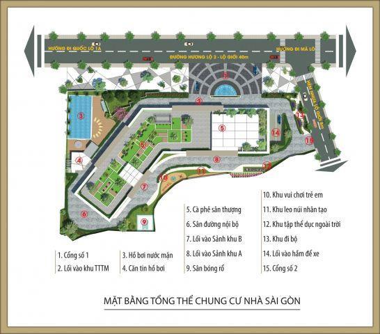 Bán căn hộ 1 phòng ngủ,căn hộ Sài Gòn Home, mặt tiền đường Hương Lộ 2,liền kề quận Bình Tân ,giá 1,33 tỷ