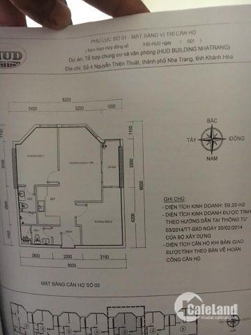 Cần bán căn hộ chính chue Căn hộ HUD tầng 4 Nguyễn Thiện Thuật