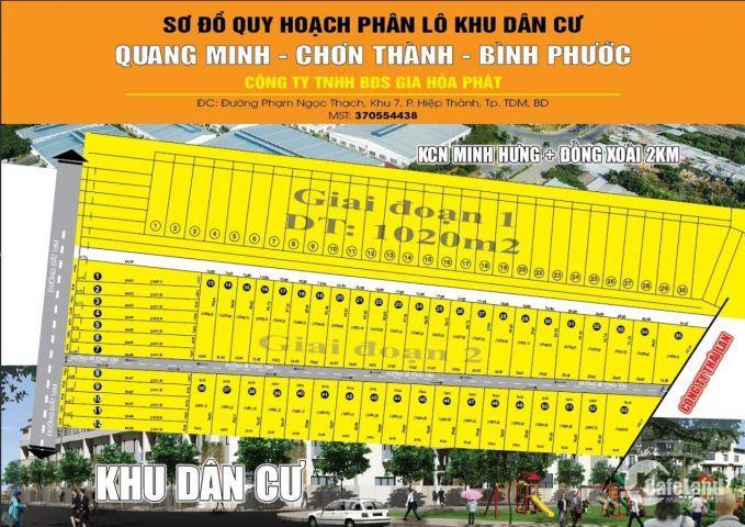 Đất Chơn Thành, Bình Phước 290tr/1000m2, hạ tầng hoàn thiện, SHR
