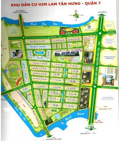 đất nền nhà phố O19 mặt tiền D1 KDC HIMLAM KÊNH TẺ QUẬN 7 THÙY 0901323176