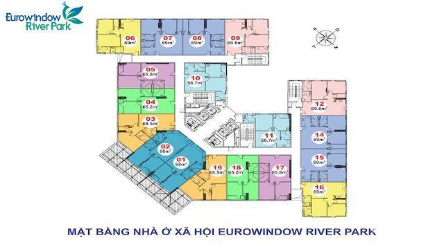 Nhà ở xã hội Eurowindow Đông Trù, Đông Anh-chỉ 14tr/m2  LH 0976136972