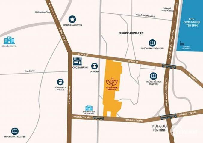Cơ hội đầu tư đất nền Phổ Yên New City trung tâm TX Phổ Yên giá chỉ từ 7tr/m2