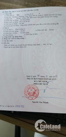 Cần tiền bán gấp !!!! Đường số 2, p. Tăng Nhơn Phú, quận 9
