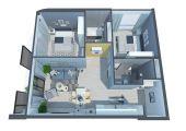 2,7 tỷ có ngay căn hộ cao cấp 2 phòng ngủ - trung tâm phố biển Nha Trang