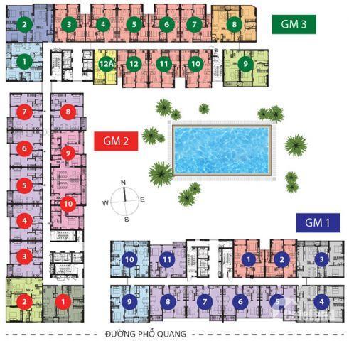 cần cho thuê căn hộ golden mansion phú nhuận 108m2, 3 phòng ngủ hoàn thiện cơ bản
