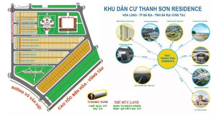 Bán lô đất Thanh Sơn c diện tích 114m2 P. Long Tâm, TP Bà Rịa, giá đầu tư tốt với giá đang siêu mềm