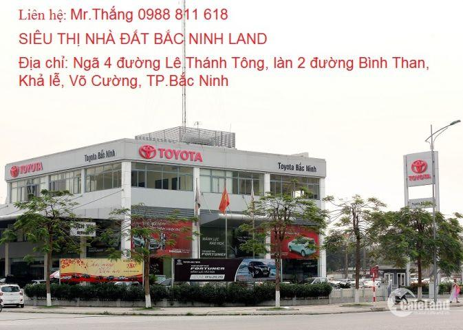 Cần bán lô đất mặt đường kinh doanh Lý Quốc Sư nhìn thẳng Toyota tại TP.Bắc Ninh