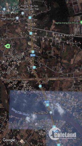 Bán đất 325m2 Đường số 4 xã Đa Phước Huyện Bình Chánh.