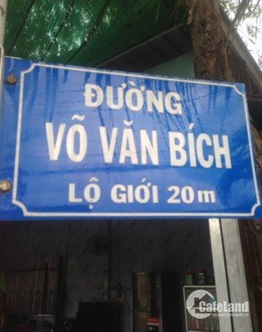 CHÍNH CHỦ Cần bán gấp 103m2 đất MT đường Võ Văn Bích, thổ cư 100%, shr LH: 0907.639.419