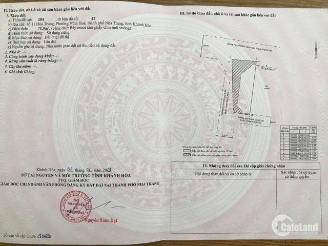 Cần bán gấp lô đất hướng nam đường ô tô hẻm Nguyễn Chích, giá chỉ 22tr/m2 sổ đỏ thổ cư 100%