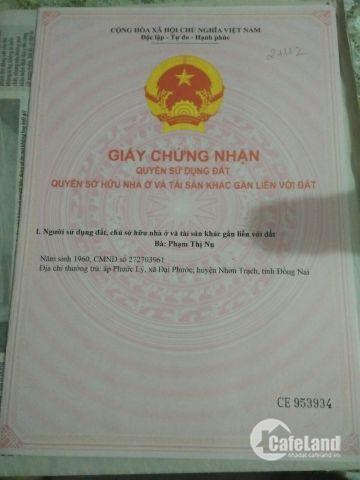 Bán đất đường Lý thái tổ, Đại Phước, Nhơn trạch, Đồng Nai