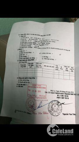 Bán đất khu Thanh Châu- Phủ Lý - Hà Nam