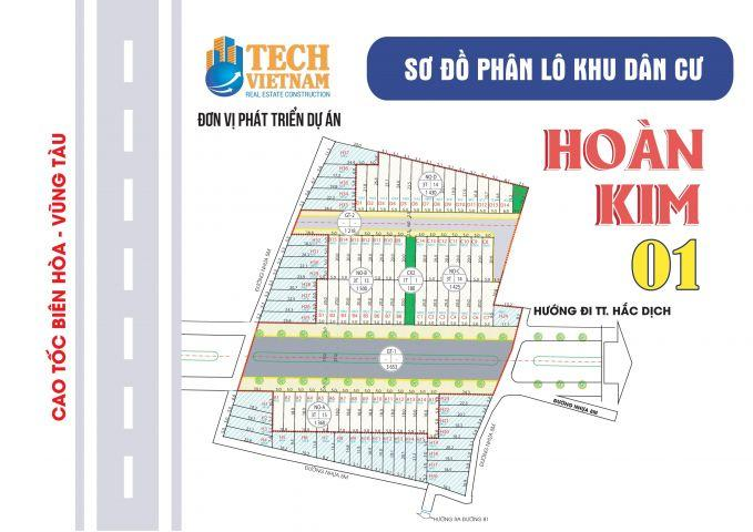 Đất thổ cư chợ Hắc Dịch100m2 mặt tiền đường 31m giá 679 triệu/ nền.