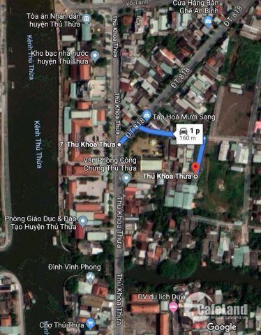 Đất Trung tâm thị trấn thủ thừa 560tr 1 nền , cách UBND huyện 160m