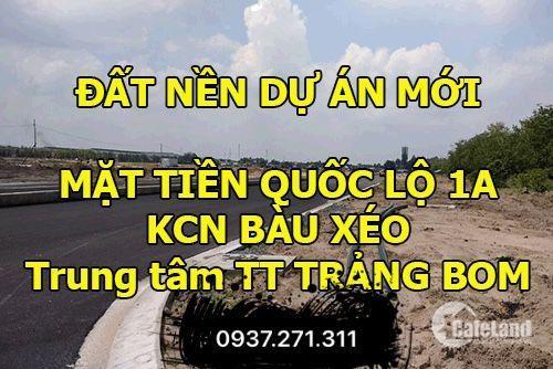 CÒn mẤy lÔ ngay mẶt tiền đường 32m, KDC Bàu Xéo cần bán, giá chỉ 11tr/m2