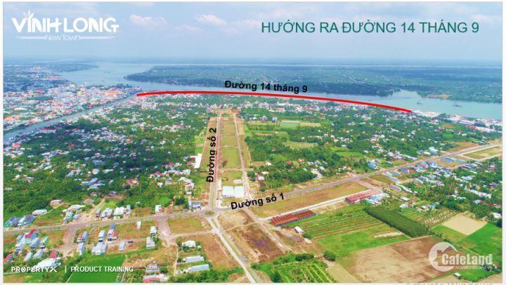 Đất đã có sổ, gần chợ, bệnh viện Vĩnh Long, Mặt tiền 30m, 12 triệu/m2
