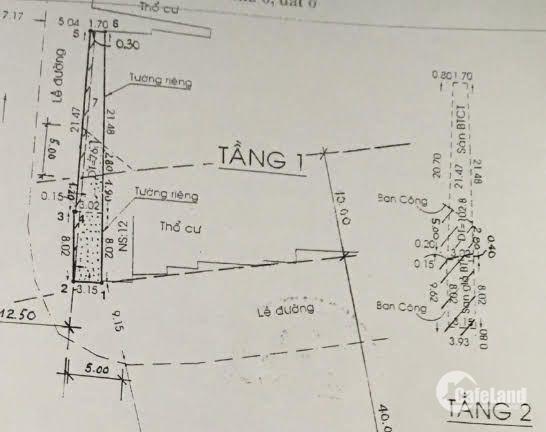 Nhà 2 mặt tiền Quận Bình Thạnh 105m²