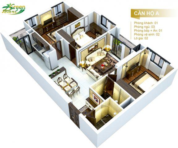 CC Green pearl 378 Minh Khai ,Sở hữu Căn Hộ 3 PN với chỉ 600 triệu