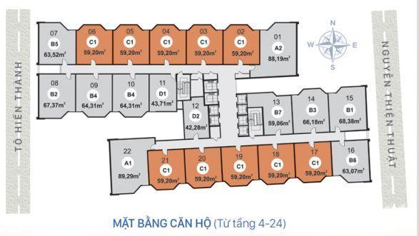 Căn hộ chung cư HUD Nguyễn Thiện Thuật Nha Trang, Chỉ 1.640 tỷ sở hữu ngay