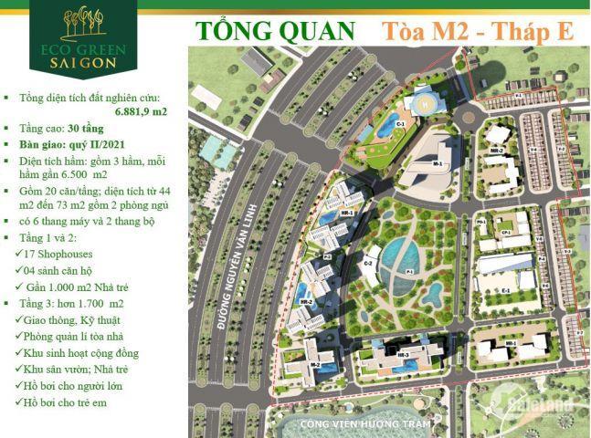 Bán căn góc 2PN dự án Eco Green quận 7 giá cđt chỉ 3,7 tỷ/72m đã vat nhận nhà Q3/2020 Lh 0938677909