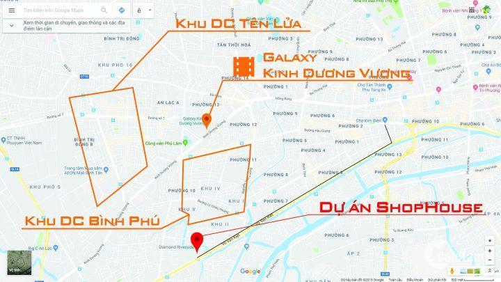 Dự án đã có Giấy phép xây dựng. Shophouse Diện tích lớn: 362m2. Thuận tiện cho kinh doanh(1 TRỆT 3 LẦU) mặt tiền Võ Văn Kiệt.