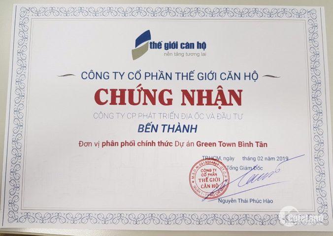 Căn hộ 67m2 giá rẻ nhất chỉ cần 480 triệu, để sở hữu GreenTown Bình Tân 0968406768