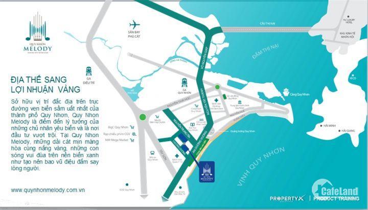 Căn Hộ khách sạn Melody TP Biển Quy Nhơn giá chỉ 33 tr/m2, CK 3%, ở lâu dài