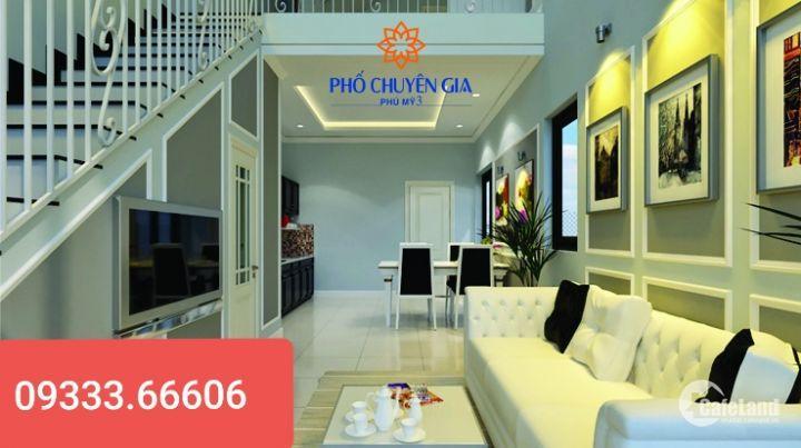 Bán nhà 1 trệt 1 lầu giá 1,3 tỷ có sẵn nội thất tại thị xã Phú Mỹ gần QL51