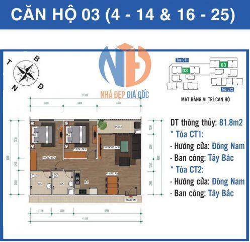 Chính chủ cần bán căn hộ 82,1m2 Ban cơ yếu Chính Phủ-Lê Văn Lương