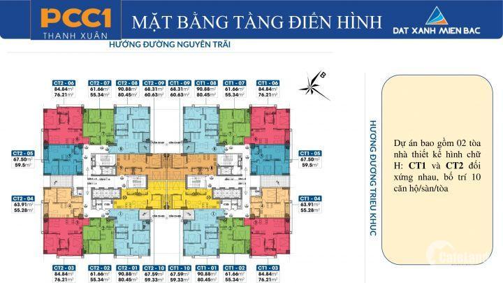 Căn hộ Trung tâm Q.Thanh Xuân , 2PN 2VS giá chỉ 1,7 tỷ